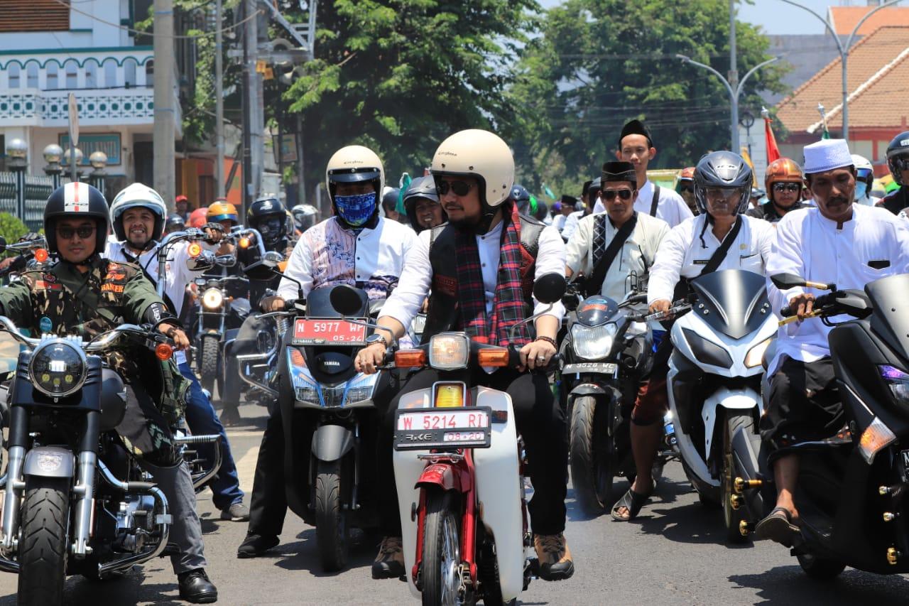 UPACARA HARI SANTRI NASIONAL DAN PAWAI MOTOR SARUNGAN DALAM RANGKA MEMPERINGATI HARI SANTRI TAHUN 2019
