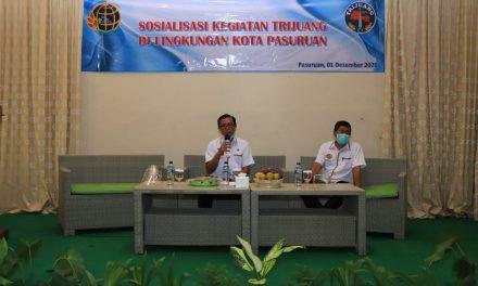 Kepala Kantor ATR/BPN Kota Pasuruan Membuka Sosialisasi Kegiatan Trijuang Di Lingkungan Kota Pasuruan