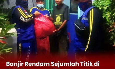 Banjir Rendam Sejumlah Titik di Kota Pasuruan, Tagana Distribusikan  1500 Nasi Bungkus