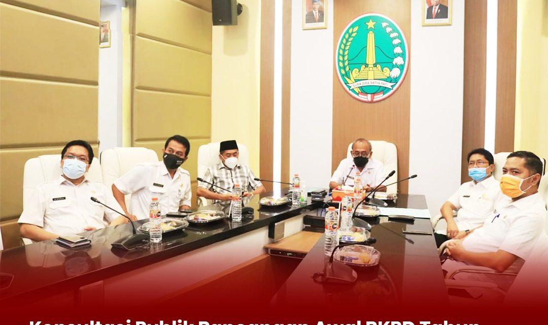 Konsultasi Publik Rancangan Awal RKPD Tahun 2022, Plh. Wali Kota Pasuruan Berharap Kualitas Dan Derajat Pemberdayaan Masyarakat Meningkat