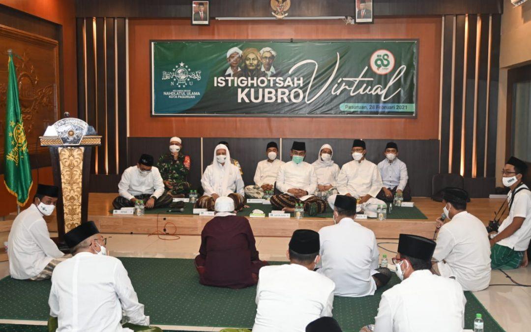 Istighosah Kubro Harlah NU Ke-98, Wali Kota Pasuruan Bangga Pada Peran NU Dalam Urusan Covid-19