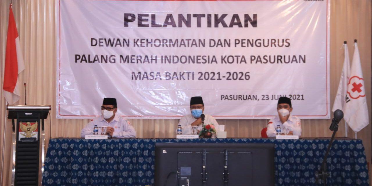 Dilantik Menjadi Ketua PMI Kota Pasuruan, Mas Adi Dapat Dukungan Gus Ipul Sukseskan Program PMI Di Era Digital