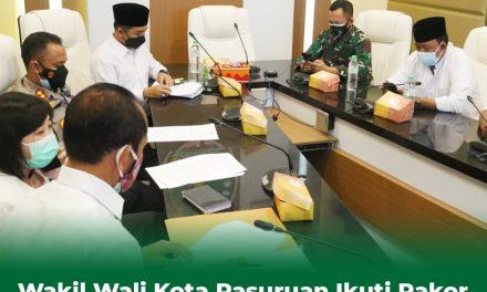 Wakil Walikota Pasuruan Ikuti Rakor Bersama Menkopolhukan tentang perbelakukan PPKM Darurat
