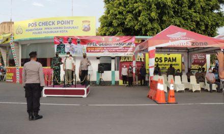 Gus Ipul Pimpin Apel Gelar Pasukan Persiapan Pelaksanaan PPKM Darurat Di Wilayah Hukum Polres Pasuruan Kota