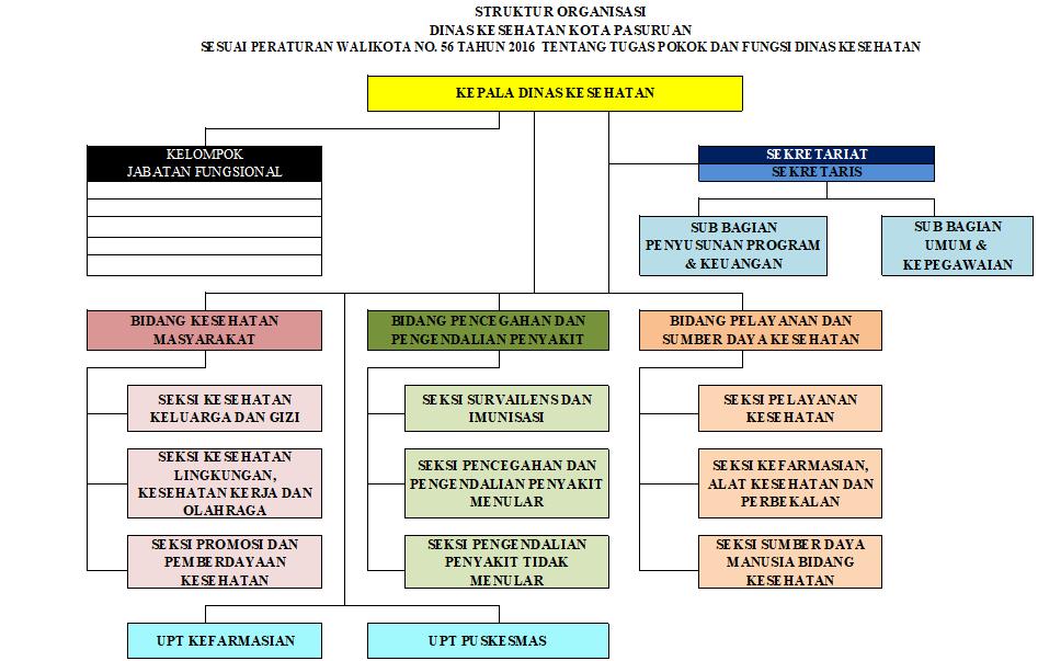 Struktur Organisasi Dinas Kesehatan