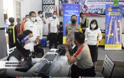Dinkes Kota Pasuruan Memulai Vaksin Covid 19 Untuk Petugas Pelayan Public